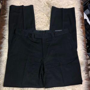 John Varvatos black wool dress slacks 38x36